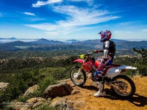 enduro action honda photography