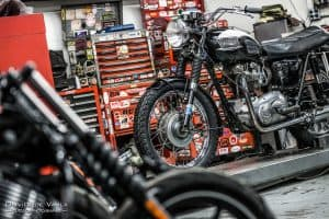 Triumph motorcycle photography los angeles