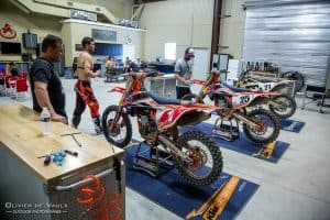 motocross action garage photography